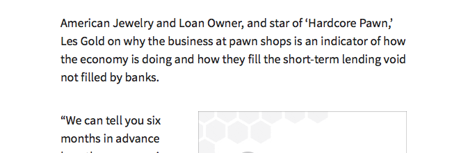 Are Pawn Shops the New Bank?